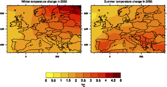 Temperature Changes in Europe